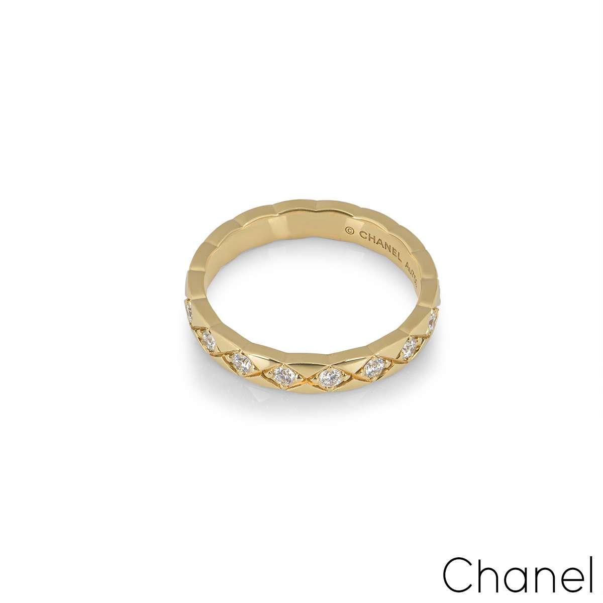 Chanel Yellow Gold Coco Crush Ring J11872